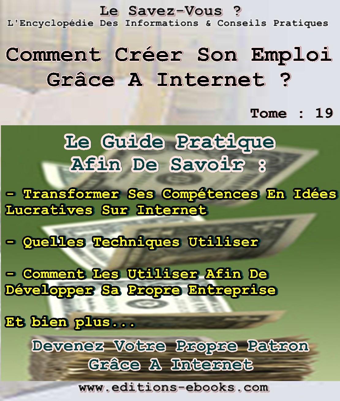 Tome 19 comment créer emploi